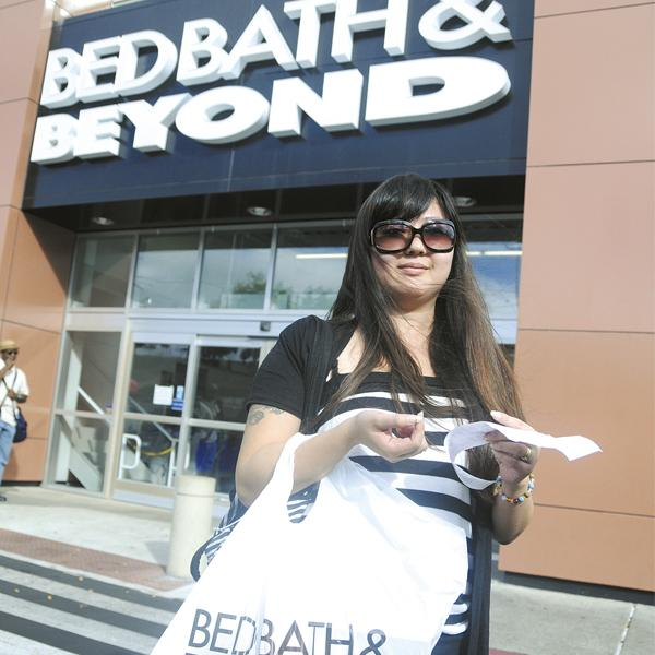 """Honolulu resident Shinko William is a regular  Bed Bath & Beyond  shopper. """"They are a lot cheaper than some other stores,"""" she says."""