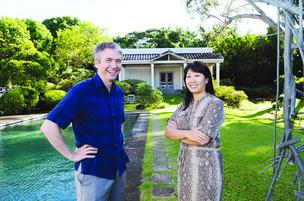 Stephan Jost and Allison Wong stand in front of Spalding House, formerly The Contemporary Museum. The Makiki site is taking on new life as an education venue for artists.