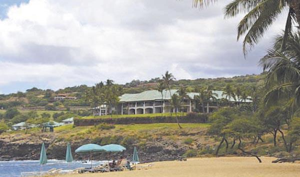 The Four Seasons Resort Lanai at Manele Bay will be included in Larry Ellison's purchase of the island.