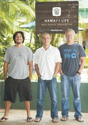 Owners of Hawaii Life Real Estate Brokers, from left, Justin Britt, Matt Beall and Winston Welborn, see Oahu as their next big market for their fast-growing company.