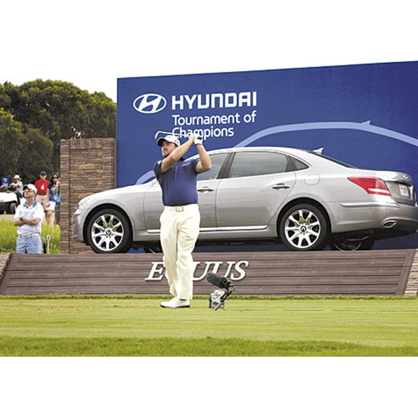 Graeme McDowell Tees Off At The 2011 Hyundai Tournament Of Champions PGA  Tour Event At The