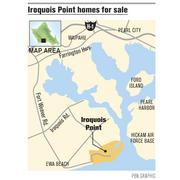The 400-acre Iroquois Point subdivision is located in Ewa Beach on Oahu, near the entrance to Pearl Harbor.