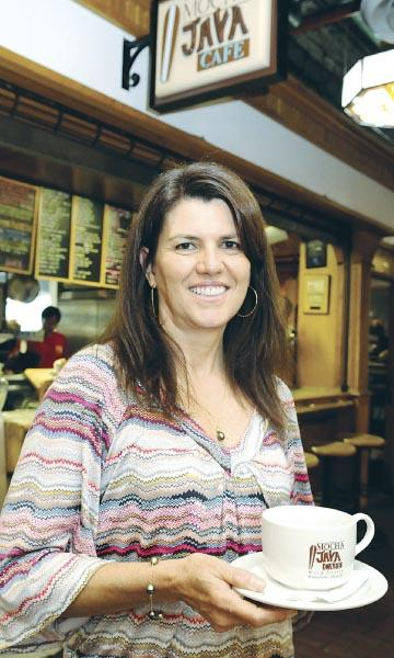 Mocha Java Café owner Luzia Maia, top, started the business with her former husband at Ward Centre 15 years ago.