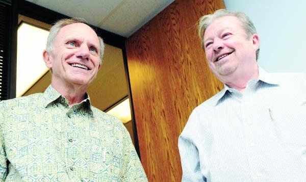 Norb Buelsing, left, and Joe Haas say their new Portfolio Advisory Group will be unique among Hawaii investment companies.