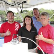 The Fair Wind executive team, from left, Alex, Mendy and Puhi Dant, and Capt. Mitch Stauffer, rear.