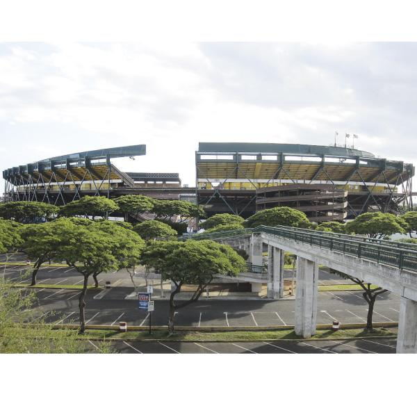 Reduced attendance and a lack of revenue from parking and concessions at University of Hawaii football games played at Aloha Stadium have contributed to the Manoa athletic department's debt, which is expected to reach $13 million by the end of this year.