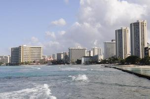 Oahu hotels – including those in Hawaii's main tourism district, Waikiki, seen here — posted the highest revenue gains during the second quarter, according to STR.