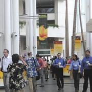 There were about 9,000 attendees at the Hawaii Convention Center this week for the American Academy of Neurology Convention. Planners for such meetings are typically working five years in advance, which makes playing 'catch up' difficult.