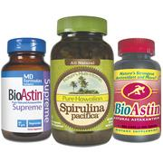 BioAstin is marketed as an antioxidant that enhances skin, muscle and joint health. Spirulina Pacifica is a nutritional supplement.