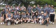 Employees observed Earth Day this year by painting the entrance to Ala Moana Beach Park.