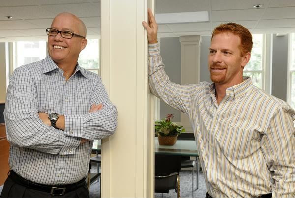 Fred Noa, left, and Anthony Hunt have set up shop on S. King Street as Blue Rock Partners. 'If the relationship is whole then the business will grow naturally,' Noa says of the partnership between the real estate veterans who have worked together for years.