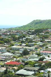 Diamond Head and the Pacific Ocean provide a backdrop for Kaimuki, one of the neighborhoods considered by its residents to be a great place to live.