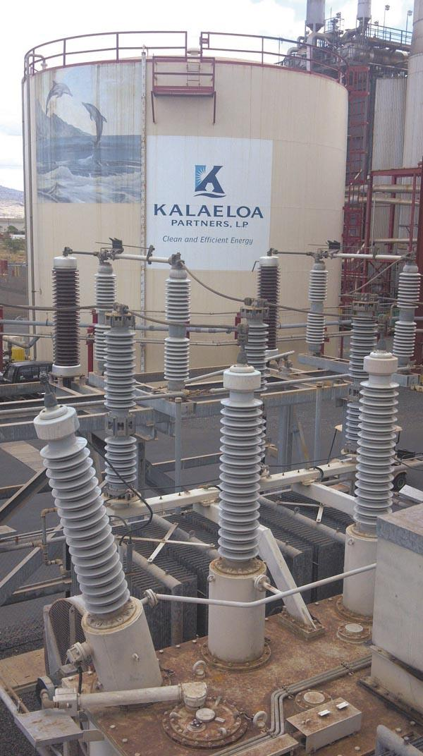Kalaeloa Partners' 200-megawatt facility in Campbell Industrial Park is currently powered by oil.