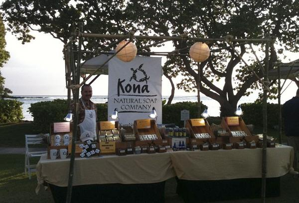 Kona Natural Soap Co. displays a variety of soap products, which use pricier essential oils instead of fragrance oils.