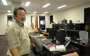 Dick Isoo Oshima, managing director of Oshima Co. CPA, shows off his new office space in Davies Pacific Center.