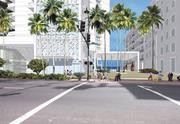 An architect's rendering of what the base of the new Diamond Head Tower could look like.