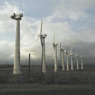 Apollo Energy Corp. plans to take down its 37 rusted and out-of-shape Mitsubishi wind turbines on the Big Island of Hawaii, seen here in this file photo, by the end of this week.