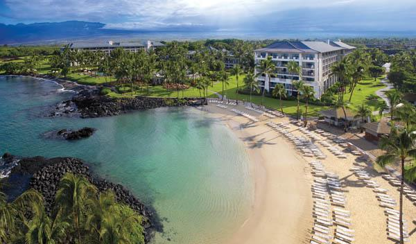 Hotels on Hawaii's Big Island, which include the Fairmont Orchid, seen here, saw the greatest growth in occupancy and room revenue during the first quarter, according to a report by Hospitality Advisors LLC and Smith Travel Research.