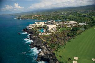 Hotels on Hawaii's Big Island saw the average daily room rate soar 24 percent to $241.43 last week, while occupancy rose 12.2 percentage points to 76.6 percent occupancy. Seen here is the 509-room Sheraton Kona Resort & Spa at Keauhou Bay south of Kailua-