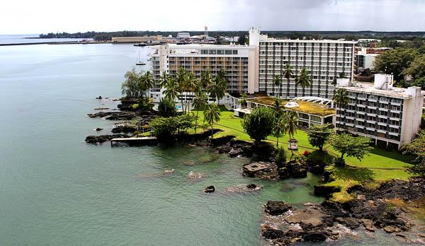 Hawaii Outdoor Tours, which owns the Naniloa Volcanoes Resort in Hilo, seen here, filed for Chapter 11 bankruptcy reorganization on Tuesday.