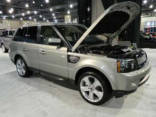 A Range Rover on display at last year's Philadelphia Auto Show.