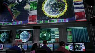 The Space Fence control room.