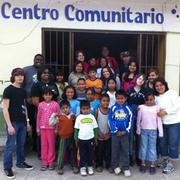 The Hopeworks 'N Camden volunteers with the children they were helping in Cuernavaca, Mexico.