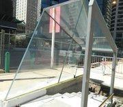 Mock up of glass entrance