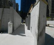 A lot of concrete work was completed as part of the project.