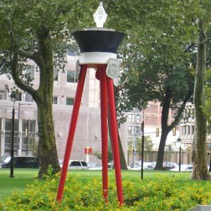 """The """"Living Flame Memorial"""" at Franklin Square."""