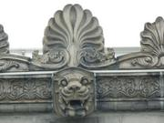 Some of the decorative work facing the roof-top lounge.