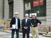 Part of the team working on the project: Jack Paruta of Gensler, Nick Gregory of Kimpton, and Bruce Reynolds of Stillwater Consulting Inc.