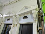 The lobbies and main entrances are being completely restored to their past grandeur.