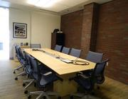A small meeting room.