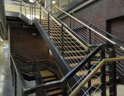 Stairs leading to a mezzanine.