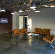 The reception area.