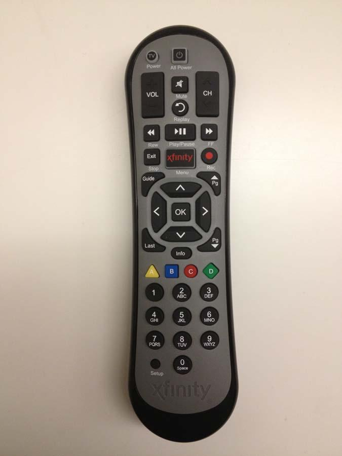 The new remote that, along with a new set-top box, Comcast customers who get X1 will need to navigate it.