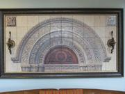 Another photo printed on tile piece by Palladio for Greenfield Mansion, this one of an arch over a doorway in a building on the college's original campus.