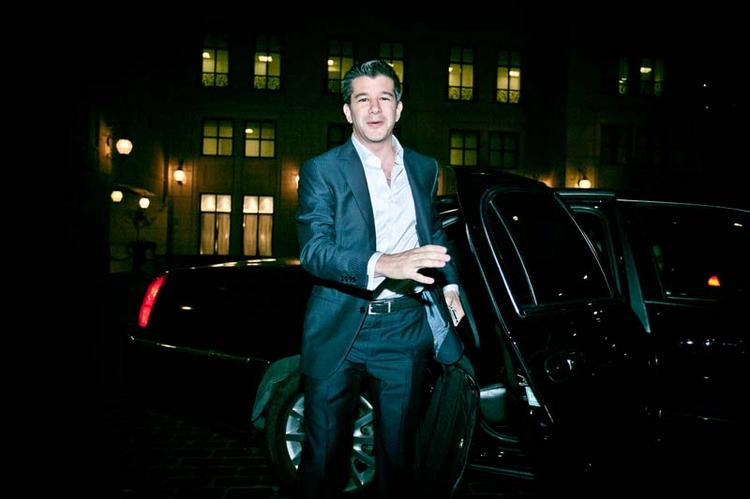 Kalanick with one of the tools of his trade: A limousine.