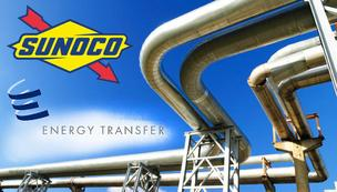 Sunoco stock up a lot, Energy Transfer up a little