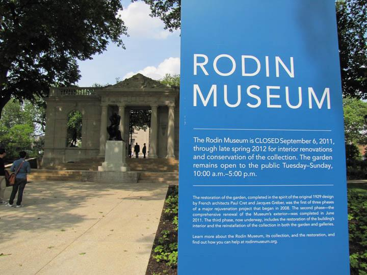 Restoration of the Rodin Museum has been going on for three years.