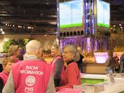 The Philadelphia Flower Show, which is put on by the Pennsylvania Horticultural Society, has trained volunteers stationed throughout the Convention Center.