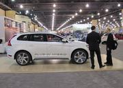 Hybrids were prominent at this year's Auto Show. This is the Volvo plug-in concept, which is not yet on the market.