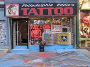 Eddie's Tattoos (621 S. 4th) is on a block with a few other tattoo shops, and some around South Street have taken to calling it Tattoo Row.