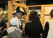 An actor portraying the Swedish botanist Carl Linnaeus is part of an exhibit on horticulture of the 18th century. It was put together by the Williamson Free School of Mechanical Trades of Media, Pa.