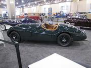 A 1950 Jaguar XK150 featured a lightweight alloy-aluminum body combined with a powerful, 3.4-litre, six-cylinder engine. It recorded a top speed of 132.6 mph.