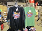 "The PHS Shop is stocked with T-shirts bearing the ""Brilliant!"" theme of the Flower Show."