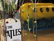 The Beatles seemed to be a frequent theme. Here is one of at least two yellow submarines, an homage to the band's 1968 album and animated film of the same name.