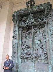 "The entrance to the Rodin Museum has the artist's ""Gates of Hell."" The project was inspired by Dante's Inferno and consumed the artist for nearly four decades, from 1880 until his death in 1917."