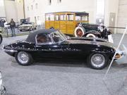 The Jaguar Series I XKE Roadster debuted at the Geneva Motor Show in 1961, and had some of the features Jaguar D-Type racers used with success at Le Mans in the 1950s. This 1963 model has a 3.8-liter, six-cylinder engine and a four-speed gearbox. It also features details like toggle switches on the dash and covered headlights. When new, it had a sticker price of $5,500.